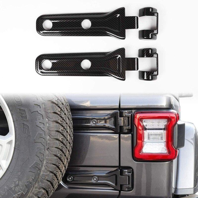 Black Spare Tire Bracket Hinge Cover Trim for Jeep Wrangler JL 2018 Up