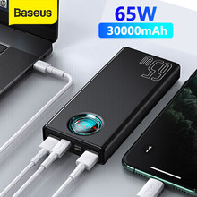 Baseus Power Bank 30000mAh 33W/65W PD Schnell Lade QC 3,0 FCP SCP Power Externe Batterie für Smartphone Laptop Tablet