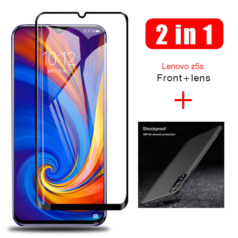 2-in-1 Case + Glass For Lenovo Z5s Z5 S Screen Protector Lens Glass On Lenovo Z 5s Z5s Protective Glass Cover Cases
