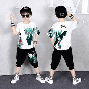 13-14-Years Kids Tracksuit Pants T-Shirt Sports-Suits Boys Children Summer Casual 6 8