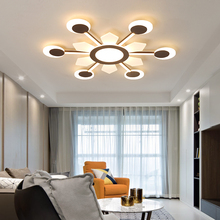 New Brown led chandelier Creative Acrylic chandeliers ceiling For Livingroom Bedroom plafondlamp modern chandelier lighting minimalism modern led ceiling chandeliers plafondlamp iron round led chandelier lighting for bedroom studyroom led light