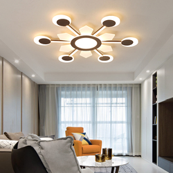 Nowy brązowy żyrandol led kreatywne żyrandole akrylowe sufit do salonu sypialnia plafondlamp nowoczesny żyrandol