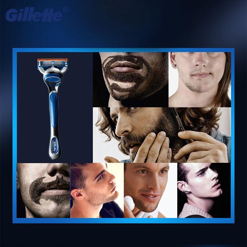 Gillette Razor Cassettes Shaving-Holder Safely Gile Fusion-5 Original Replacement