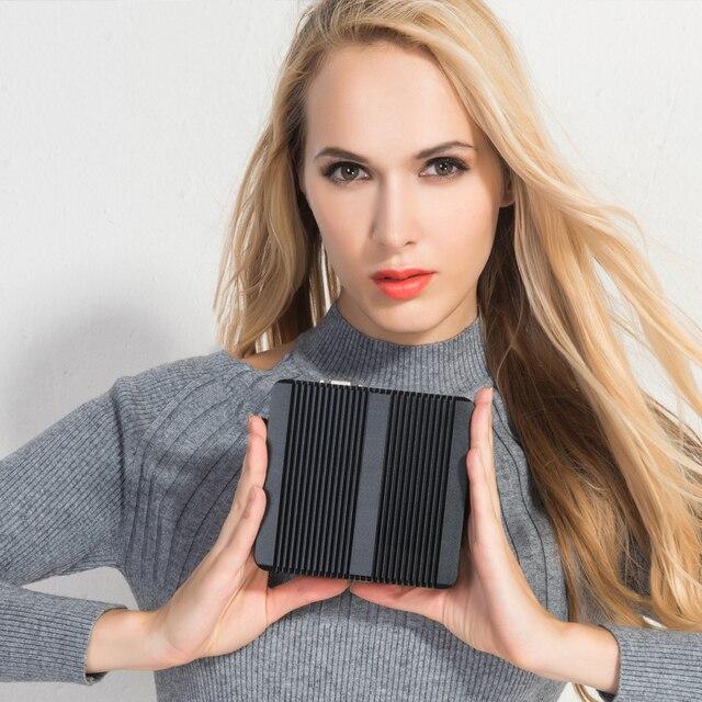 XCY Fanless Mini PC Intel Core i7-4500U 4GB/8GB RAM 128GB/256GB SSD 300Mbps WiFi Gigabit Ethernet HDMI VGA HTPC Windows 10 4