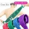 Silicone Back Scrubber Soft Loofah Bath Towel Bath Belt Body Exfoliating Massage For Shower Body Cleaning Bathroom Shower Strap 1
