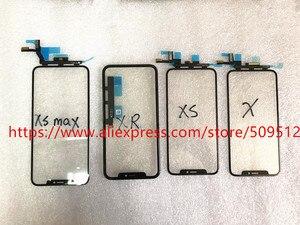 Image 2 - 1 قطعة شاشة اللمس الأصلي الجبهة الخارجي الزجاج لوحة مع الكابلات المرنة OCA آيفون X XS ماكس XR 11 11Pro ماكس استبدال أجزاء
