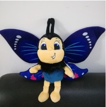 Free shipping  butterfly plush doll Bee  ladybug soft toys for children baby birthday Christmas gift free shipping 45cm cartoon the muppets kermit frog plush toys soft boy doll for children birthday gift