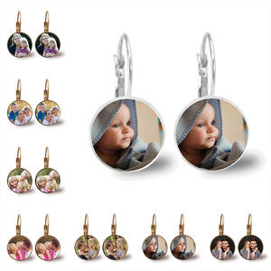Custom Earrings Anniversary Grandpa Customized-Designed Personalized Photo for Family