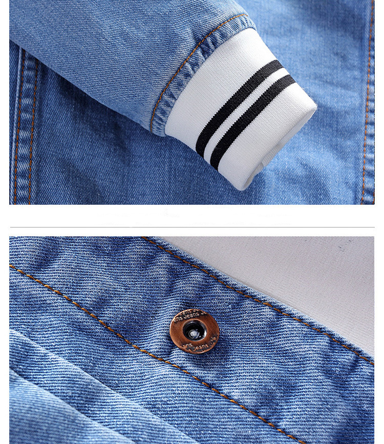 H4e429783bed34488a0eefe21a589bd12b - New Men's Denim Jacket Spring Casual Coat Outwear Men Stand Collar Motorcycle Cowboy Male Fashion Jacket DA512