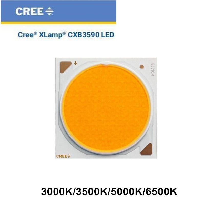 Светодиодная лампа для выращивания растений CREE COB CXB3590, идеальный держатель, 50-2303CR, штырьковый радиатор, драйвер Meanwell 100 мм, стеклянный объект...