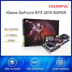 Colorful iGame GeForce RTX 2070 SUPER Graphic Card Advanced OC Nvidia GDDR6 256bit GPU 8G RTX2070 Video Card HDMI Game Computers