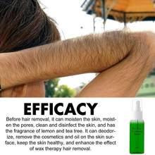 Pulverizador de tratamiento para depilación, limpiador para el cabello, herramienta corporal, conjunto liso, 30ml, V6V0, 2 botellas
