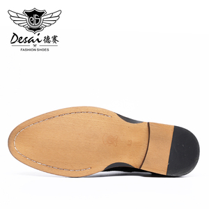 Image 5 - Desai Male Mens Pure Genuine Turkish Cow Leather Shoes 2020 For Men Dress High Quality Top Luxury Police Wholesale
