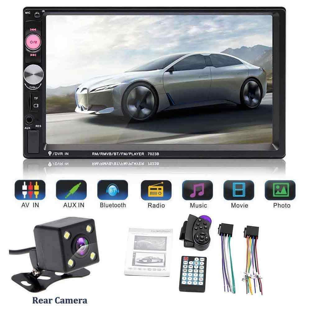 2 DIN Mobil Multimedia Player Mobil Radio Video MP5 Player Menyentuh Layar Video Bluetooth MP5 Pemain Remote Controller dengan Kamera