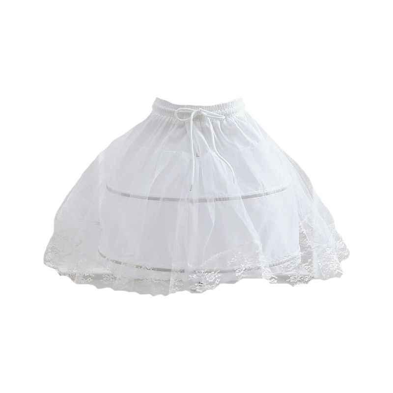 Elastische Band Verstelbare Pettiskirt Leuke Meisjes Cosplay Dagelijks Lolita Rok Fishbone Petticoats