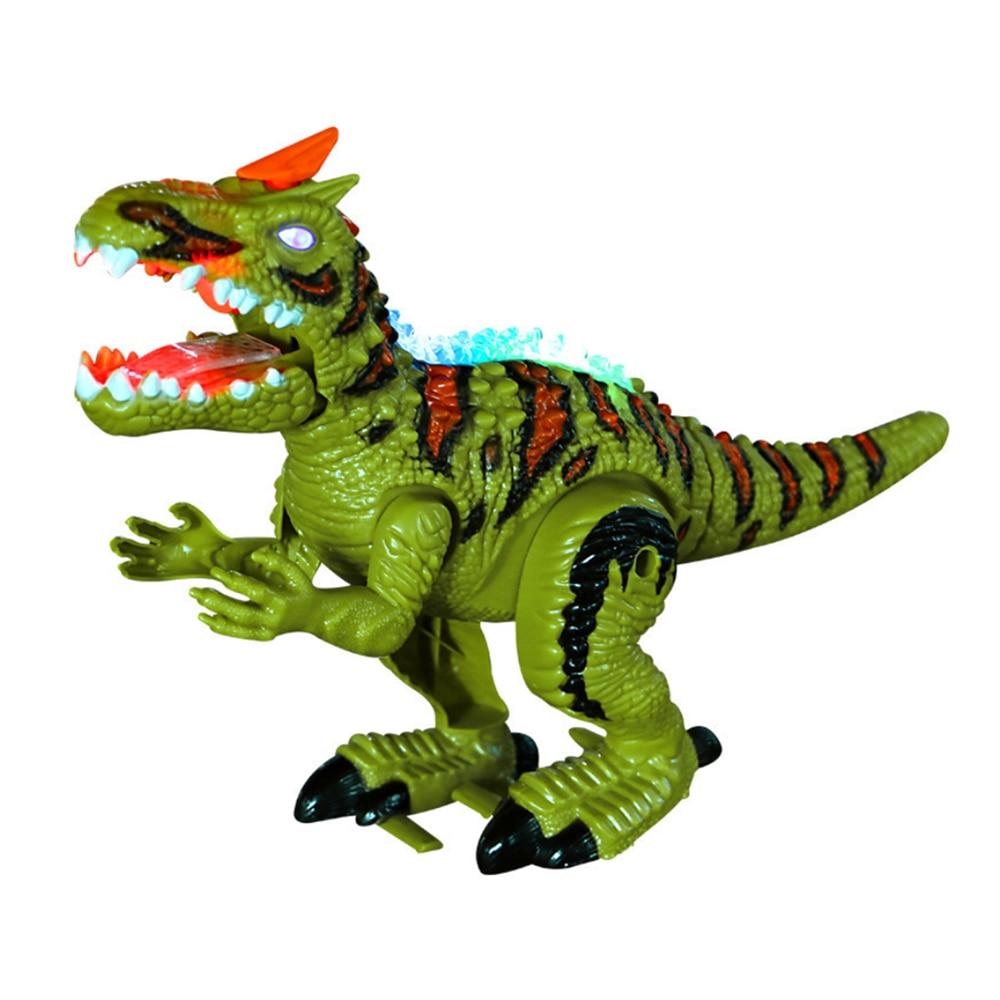 Creative Electronic Dinosaur Tyrannosaurus Rex Animal Sounds Dinobot Electric Walking Animals Toy Music Light Spray Toys