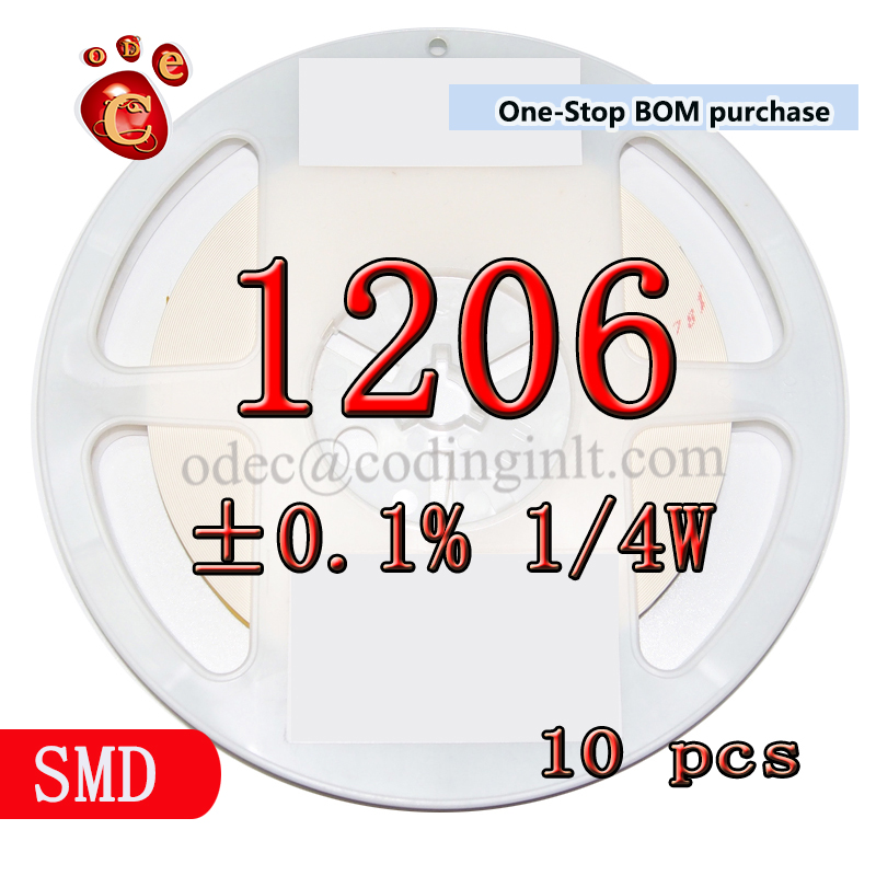 SMD 1206 230Ω ±0.1% 1/4W High precision film resistors 10PCS/LOT