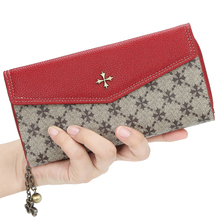 European and American women's long wallet multifunctional zipper storage wallet fashion creative old pattern coin purse