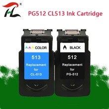 YLC ใช้งานร่วมกับ PG512 CL513 สำหรับ Canon PG 512 CL 513 ตลับหมึกสำหรับ PIXMA MP230 MP250 MP240 MP270 MP480 MX350 IP2700 เครื่องพิมพ์