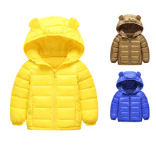 2019 Autumn Winter Warm Jackets For Girls Coats Boys Baby  Children Clothes Kids Hooded Outerwear Coat