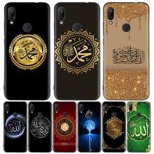 아랍 무슬림 이슬람 패턴 블랙 커버 전화 케이스 Xiaomi Redmi 참고 8T 10 9S 8 7 8A 7A 6A Mi 10 9 8 CC9 K20 Pro Lite Coque