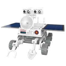 3 In 1 Solar Power Educational Toy Spaceship Lunar Exploration Fleet Diy Transfomation Robot Kits Novelty For Kids Gift