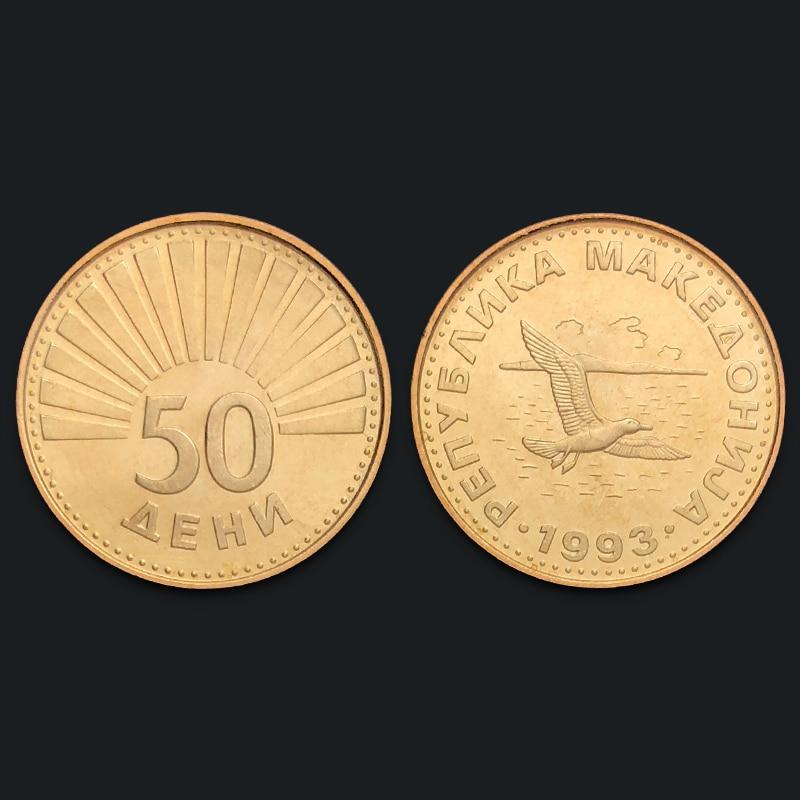 Macedonia 50 Ton 1993 100% Real Genuine Original Coin Comemorative Coin Collection Rare Unc