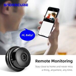 Image 3 - SNOSECURE MINI cámara IP de almacenamiento en la nube WIFI Smart Home 1080P, inalámbrica, visión nocturna, detección de movimiento, Audio bidireccional
