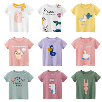 Cotton Children Kids T-shirt Boys 2020 Animal Print Dinosaur T Shirt Girls Tops Cartoon t shirt Clothes new arrive Tee kids t shirt funny boys clothes cartoon game print t shirt costume boys t shirt girls summer kids clothes t shirt children shirt