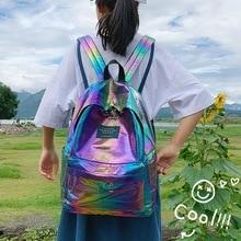 Holographic Laser Backpack Women Fashion Travel Bags 2019 Backpack Backpack Girls Shoulder Bag Oxford Backpack Dropshipping