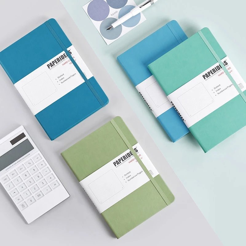 Hardcover A5 Bullet Journals Dot Notebook 188 Page 100gsm 5.7x8.2inch Retro Diary Bandage Candy Color Journal Notepad Agenda