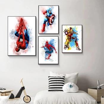Marvel Cartoon Superhero Wall Art Printed on Canvas 2