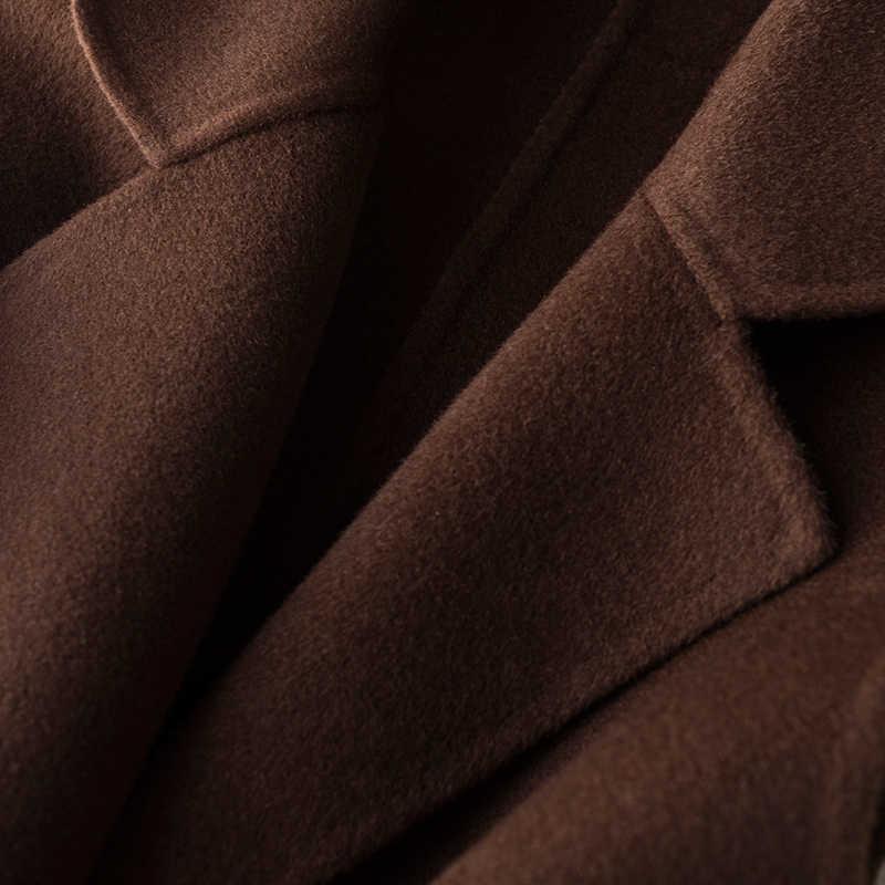 100% de lana de doble cara de las mujeres chaleco abrigos de primavera sin mangas de lana abrigo Wasitcoat para mujeres colete feminino FG8232