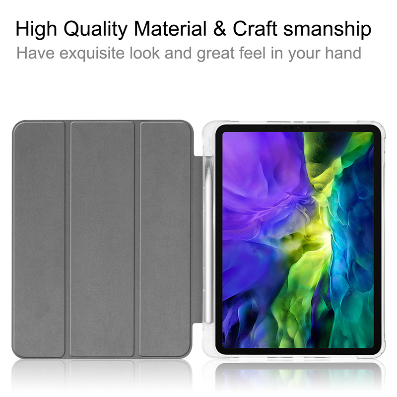 Transparent-Cover A2228/A2068/A2230 for Pencil-Slot PU Pen-Holder 11inch iPadpro11 Case with