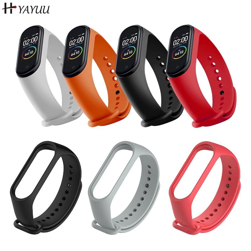 Yayuu TPU Silicone Wrist Strap For Xiaomi Mi Band 4 3 Sports Quick Release WatchBand Adjustable Wristband Replacement Strap