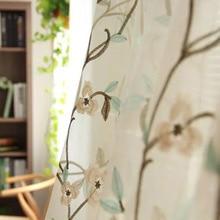 Американский стиль, свободная форма, MORI серия, Бабочка, Орхидея, вышитая оконная ширма, зеленый, синий, кофейный цвет, бежевый занавес с пряжей