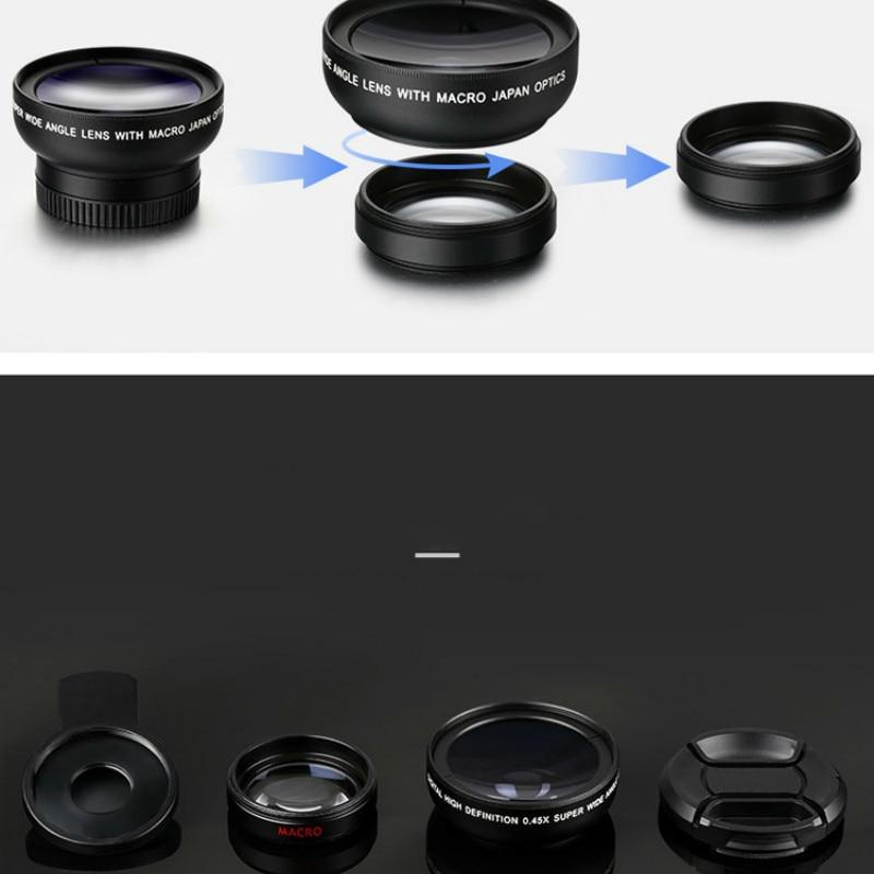 2in1 Macro Professional HD Phone Camera Lens For iPhone 8 7 6S Plus Xiaomi Samsung LG 4