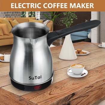 Mini Coffee Machine Turkey Coffee Maker Portable Electric Pot Milk Tea Kettle 3-4 Cup 220V Electric Coffee Maker For Office Home