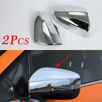 Car Part Chrome Side Rearview Mirror Cover Protect Trims Fit For Subaru Crosstrek XV 2018 2019 Accessories Exterior Molding|Chromium Styling| |  -