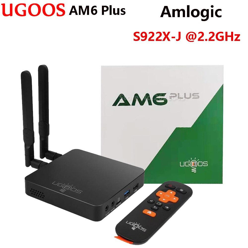 UGOOS AM6 Plus Android 9.0 Tv Box 4GB DDR4 32GB Amlogic S922X-J Set Top Box 2.4G 5G Wifi 1000M BT5.0 4K Media Player PK AM6 Pro(China)