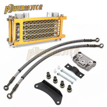 Motorcycle Oil Cooling Cooler Radiator Chinese Made Oil Cooler Set For 125cc 140cc Horizontal Engine Dirt Pit Monkey Bike ATV