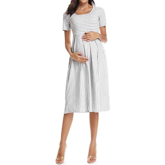 LONSANT Simple Maternity Dresses 2