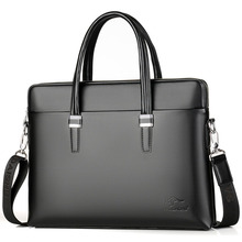 men's briefcase PU Leather Shoulder Fashion Business Bags Handbags Black Bag Men For Document Leather Laptop Briefcases Bag concise men s briefcase with pu leather and black design