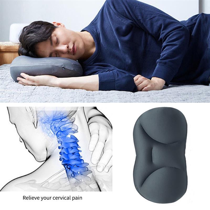 Oreiller 3D pour le cou et le sommeil profond, Design ergonomique, en particules de mousse, à mémoire de forme 5
