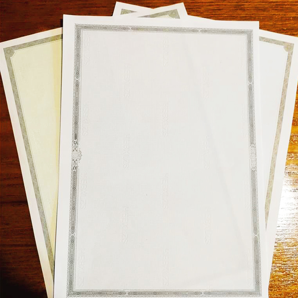 50 Sheets Per Bag A4 Printable Certificate Core Inner Page Award Retro Paper certificate of completion New Style DIY