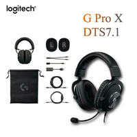 Logitech Original G PRO X Gaming wired Headset SURROUND SOUND USB External sound card Microphon