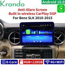 Krando Android 10 9 pulgadas 8 Core 4 + 64G radio de coche GPS navegación audio de reproductor multimedia para Mercedes-Benz Clase SLK 2010-2015 con WIFI