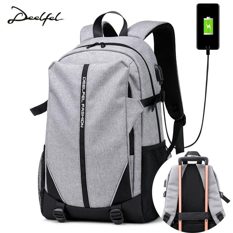 Homens mochila moda mochila Casuais tendência juventude escola mochila de viagem saco de estudante universitário bolsa de computador homens mochila saco de viagem