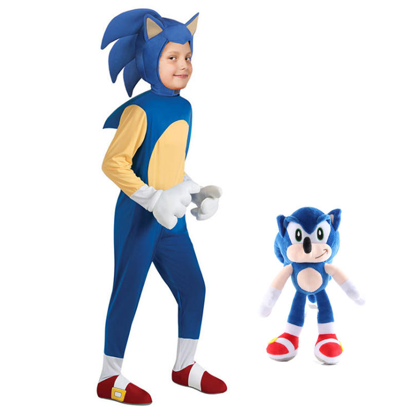 Hedgehog Costume Sonic Cosplay Girl Game Anime Deluxe Character Kids for 4-13Y The