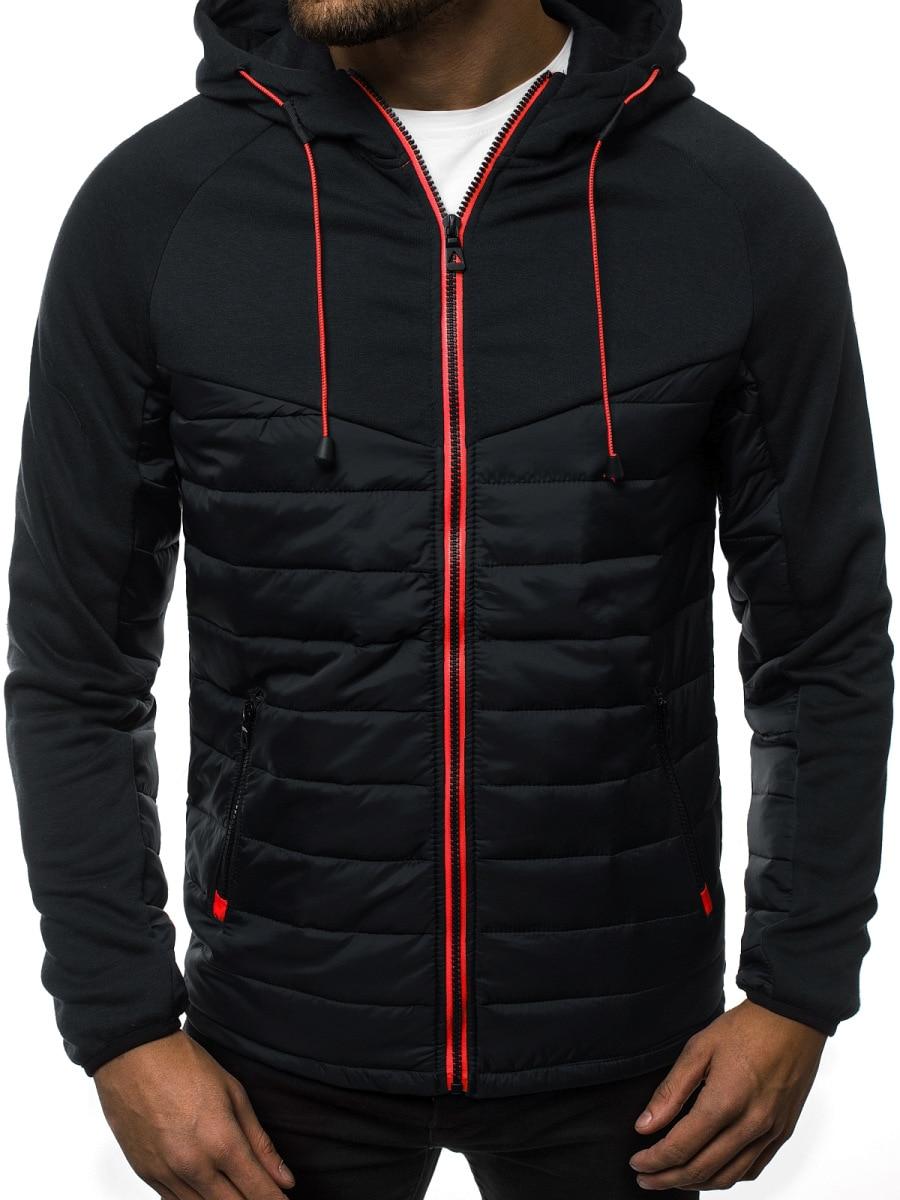 2019 Men L Hoodies Autumn Winter Men's Hip-Hop Fleece Hooded Pullover Hoodies Sweatshirt Jacket Men's Cardigan